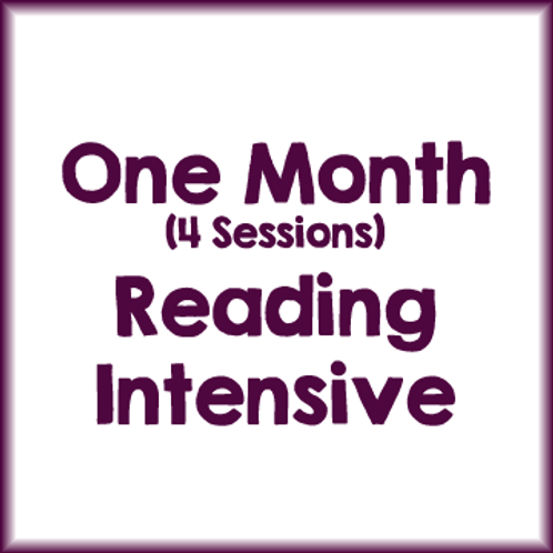 1 Month Individual Reading Intensive Package