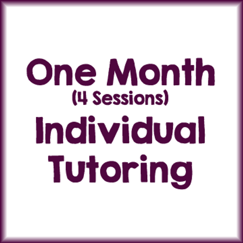 1 Month Individual Session Package