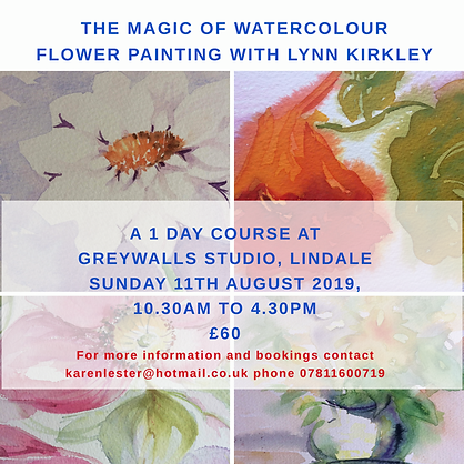 The magic of watercolour Flower painting