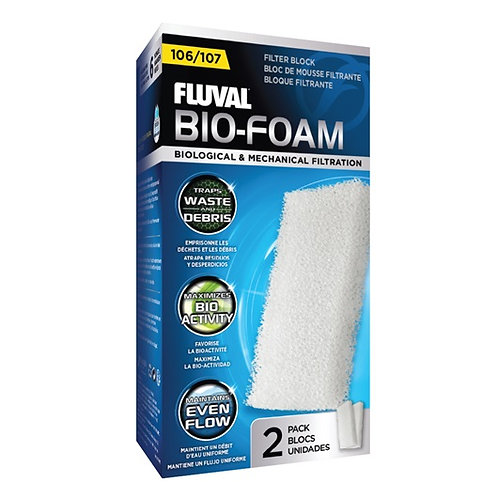Fluval 106/107 Bio-Foam Filter Block (2 pack)