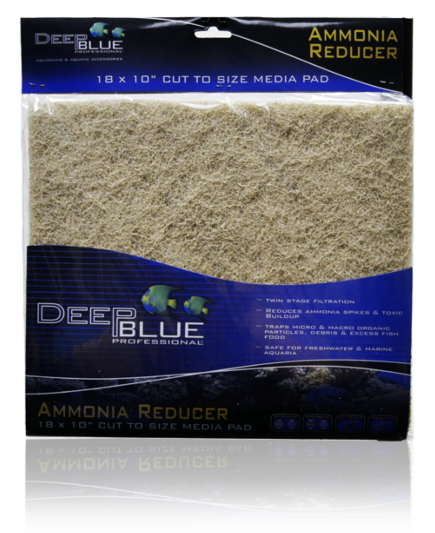 "Deep Blue 18x10"" Ammonia Reducer Media Pad"
