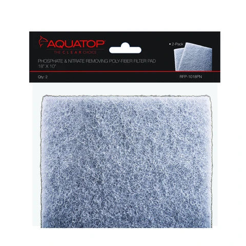 "AquaTop Phosphate & Nitrate Removig Filter Pad 18""x10"" (2 Pack)"