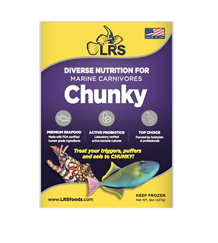 LRS Chunky Frozen Fish Food 8oz