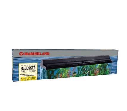 "Marineland Fluorescent Recessed Full Hood 48"" Black"