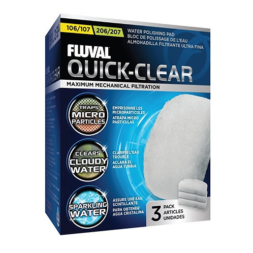 Fluval 106/206/107/207 Quick-Clear (3 pack)