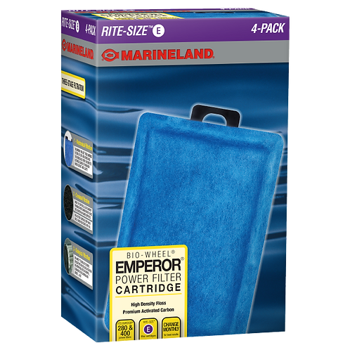 Marineland Emperor Power Filter Cartridge Rite-Size E 4-Pack