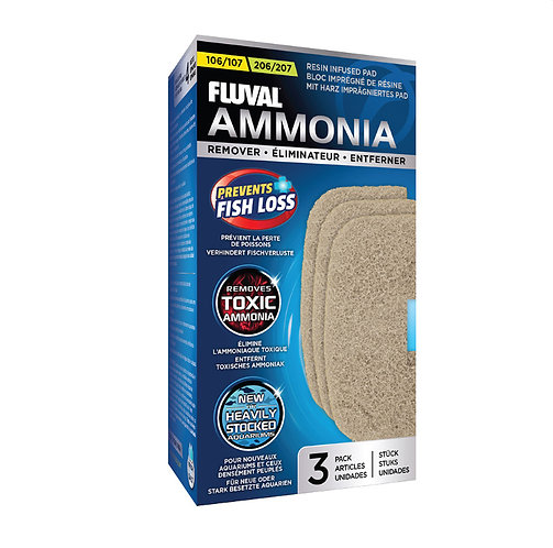 Fluval 106/107/206/207 Ammonia Remover Pads (3-Pack)