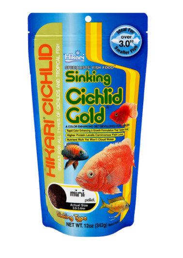 Hikari Cichlid GOLD Sinking Pellet Fish Food 12 oz