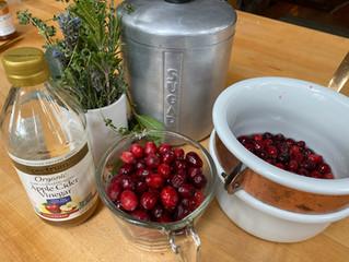 Holiday Cocktails: Cran-Rosemary Shrub
