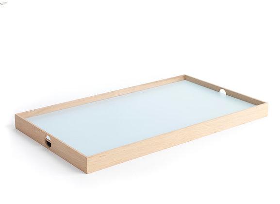 Flip Tray - large, light blue/dark grey