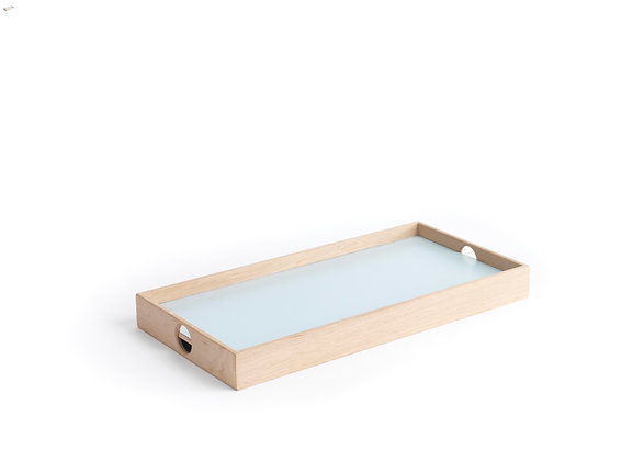 Flip Tray - small, light blue/dark grey