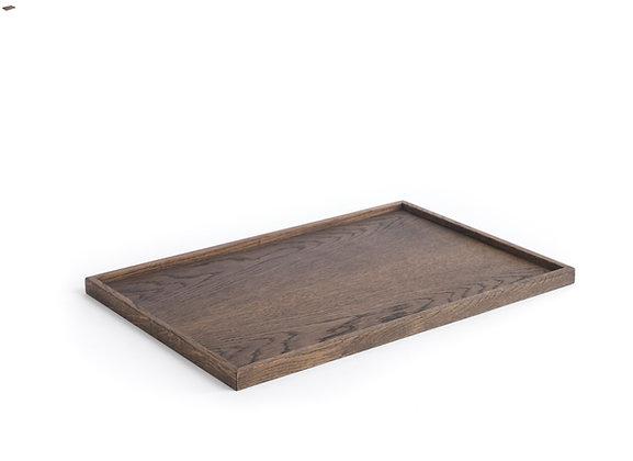 Square Tray - Large, Dark oak