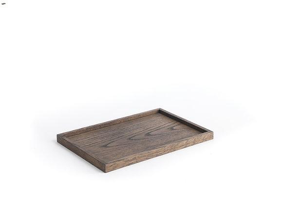 Square Tray - Medium, Dark oak