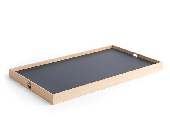 Flip Tray - large, black/white