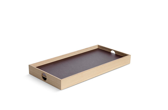 Flip Tray - small, burgundy/champagne