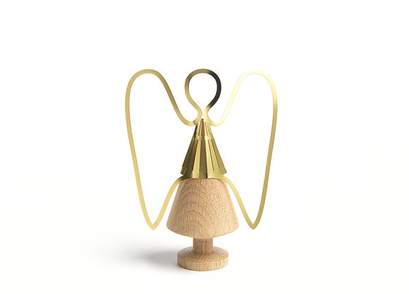 Kirsten - Angel, brass, oak