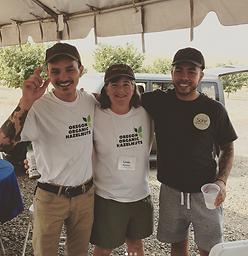 Founders with Hazenut farmer, organic