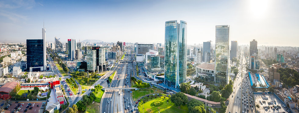 LIMA, PERU: Panoramic view of skyline in