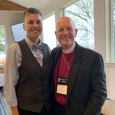 with Bishop Pat Bell