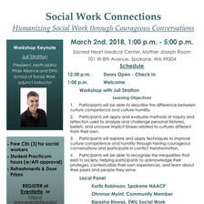Eastern WA University Social Work Connections: Humanizing Social Work through Courageous Conversations