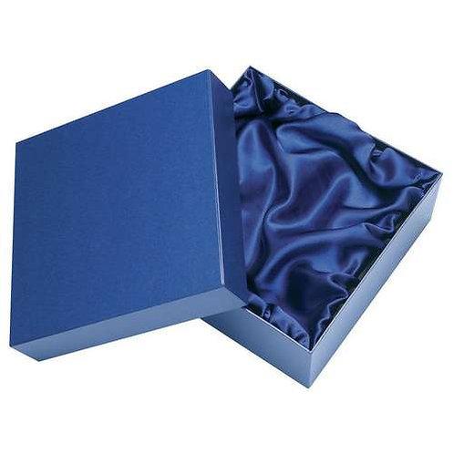 Blue Presentation Box Fits 1/2 Pint Or 1 Whiskey Or 1 Brandy - 140 x 140 x 90 mm