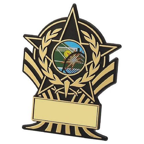 Black Plastic Star Award - 100mm