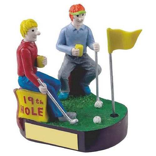 19th Hole Novelty Golf Trophy - 110mm