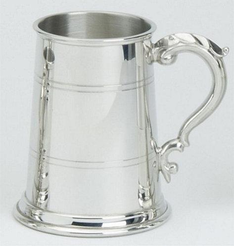 Tankard | 1 Pint | Georgian Handle | Pewter | Free Engraving