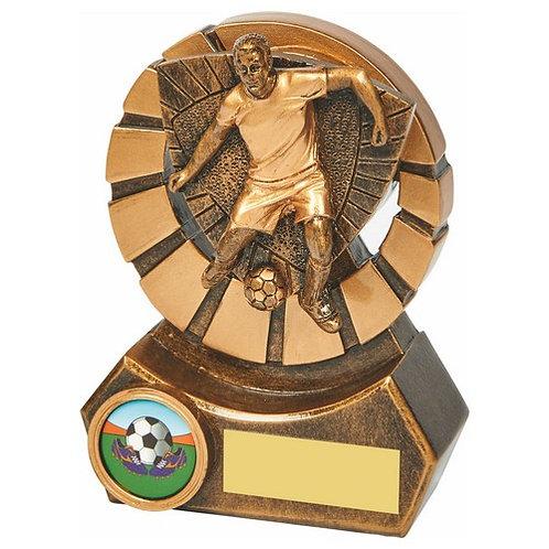 Antique Gold Male Footballer Resin - 120mm