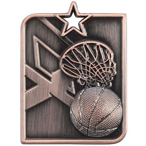 Centurion Star Series Basketball Medal Bronze - 53x40mm