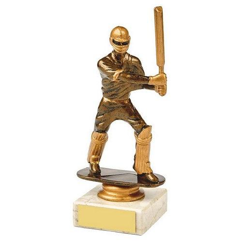 Antique Gold Cricket Batsman Award - 160mm