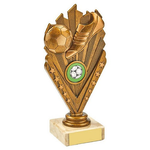 Antique Gold Boot/Ball Holder Trophy - 175mm