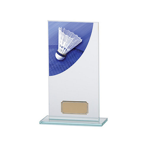 Colour Curve Badminton Jade Glass Award - 180mm