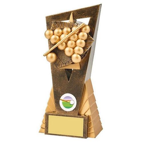 Antique Gold Snooker/Pool Edge Trophy - 180mm