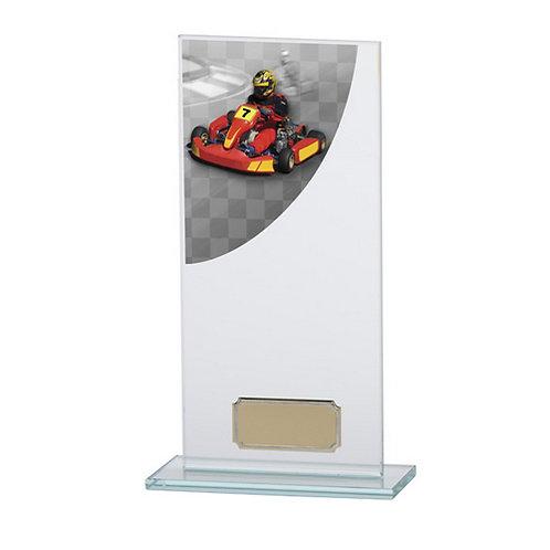 Colour Curve Go-Kart Jade Glass Award - 200mm