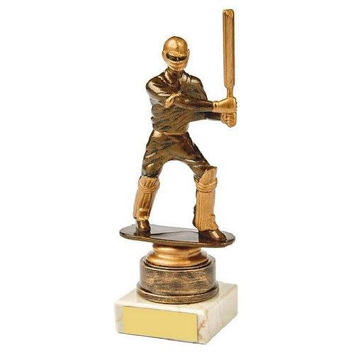 Antique Gold Cricket Batsman Award - 180mm