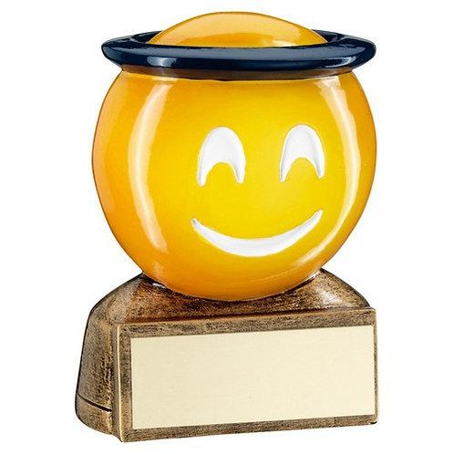 Brz/Yellow'Halo Emoji' Figure Trophy - 70 mm