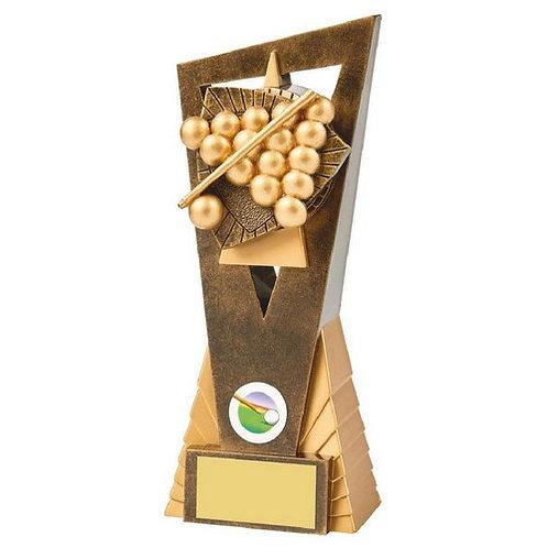 Antique Gold Snooker/Pool Edge Trophy - 210mm