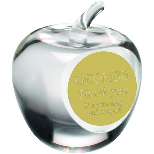 'Apple' Paperweight Trophy - 89 mm