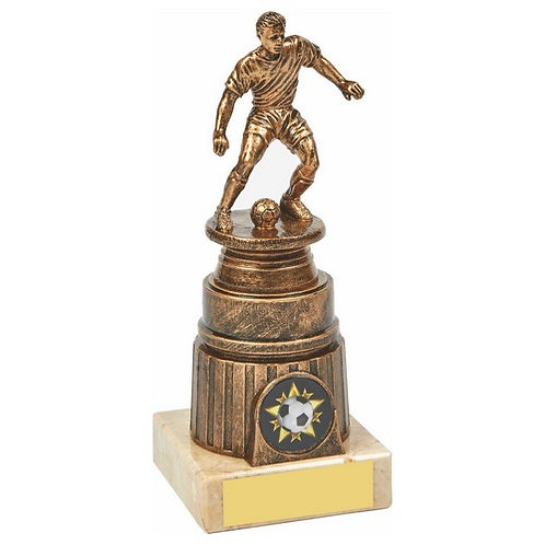 Antique Gold Male Football Trophy - 165mm