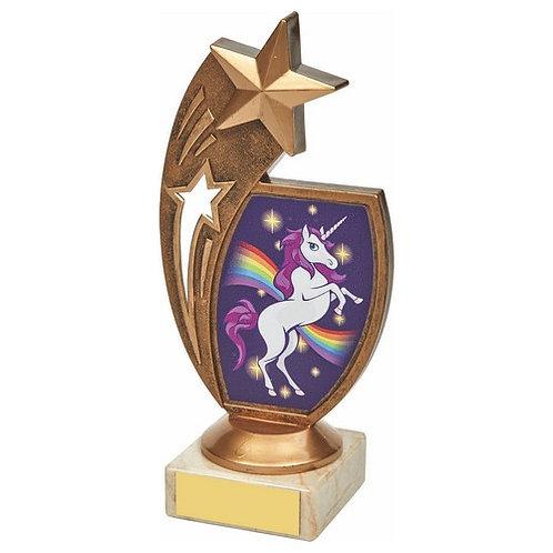 Antique Gold Unicorn Star Award - 170mm