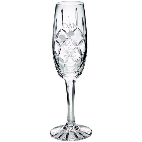 140ml Classic Champagne Flute Blank Panel - 203 mm