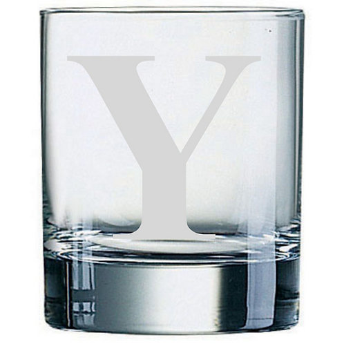 Dartington Crystal Initial Tumbler | Letter Y | Boxed | Free Engraving