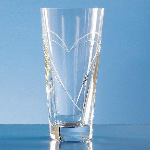 Heart Shape Cutting Vase   Swarovski Elements   200mm    Free Engraving