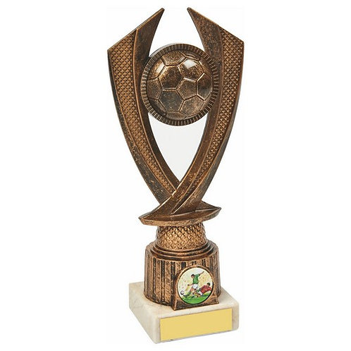 Antique Gold Football Trophy - 220mm