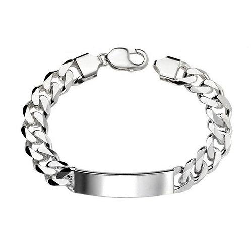 ID Bracelet | Curb Design | Heavyweight solid silver | 220mm