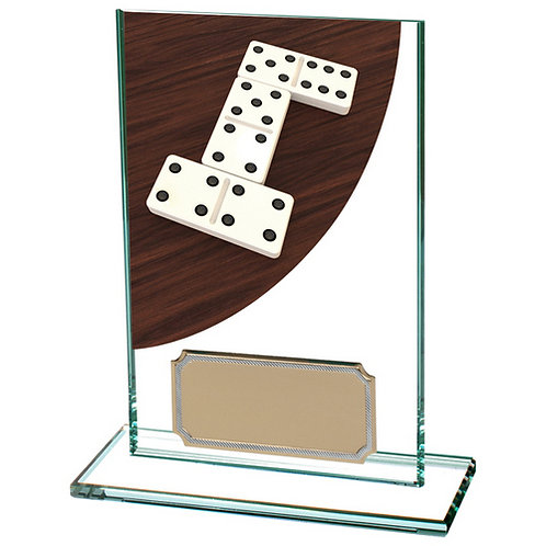 Colour Curve Dominoes Jade Glass Award - 125mm