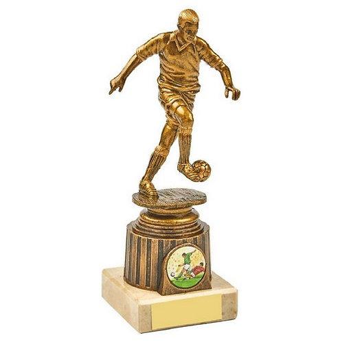 Antique Gold Male Footballer Award - 185mm