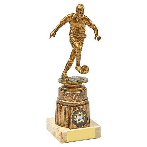 Antique Gold Male Footballer Award - 200mm