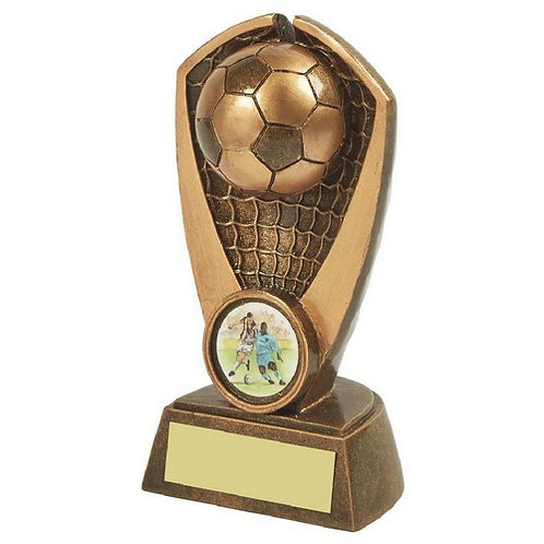 Antique Gold Resin Football Award - 135mm